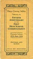 Thumbnail image of Plymouth High School 1926 Anniversary Jubilee cover