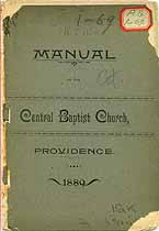 Thumbnail image of Providence Central Baptist Church 1889 Manual cover