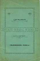 Thumbnail image of Pennsylvania State Normal School 1891-92 Catalogue cover