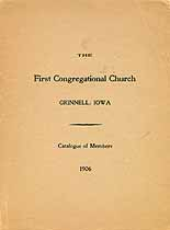 Thumbnail image of Grinnell First Congregational Church 1906 Member List cover