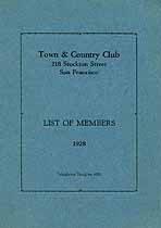 Thumbnail image of Town & Country Club 1928 Member List cover