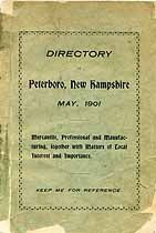 Thumbnail image of Peterboro, N.H. Directory 1901 cover