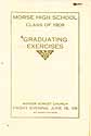 Thumbnail image of Morse High School 1909 Graduation Program cover