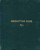 Thumbnail image of Manhattan Club 1897 List of Members cover
