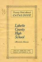Thumbnail image of Labette County High School 1916 Catalogue cover