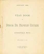 Thumbnail image of State St. Baptist Church 1886 Year Book cover