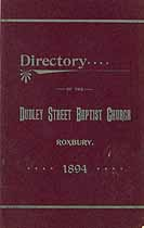 Thumbnail image of Dudley Street Baptist Church 1894 Directory cover