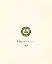 Thumbnail image of Hiram College 1905 cover