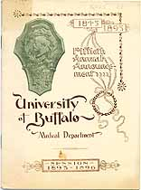 Thumbnail image of University of Buffalo Medical Dept. 1895-1896 Announcement cover