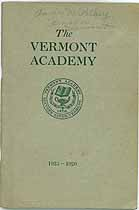 Thumbnail image of Vermont Academy 1925-1926 Catalogue cover