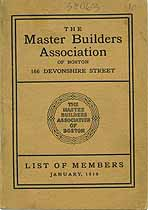 Thumbnail image of Boston Master Builders Assoc. 1910 List of Members cover