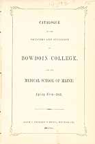 Thumbnail image of Bowdoin College 1851 Catalogue cover