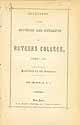 Thumbnail image of Rutgers College 1849-50 Catalogue cover