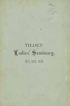 Thumbnail image of Tilden Ladies' Seminary 1877-79 Catalogue cover