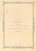Thumbnail image of Paoli High School 1892 Commencement cover