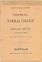 Thumbnail image of Danville Central Normal College 1888 Catalogue cover