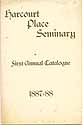 Thumbnail image of Harcourt Place Seminary 1888 Catalogue cover