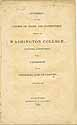 Thumbnail image of Washington College 1835 Catalogue cover