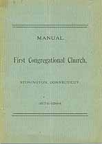 Thumbnail image of Stonington First Congregational Church 1894 Member List cover