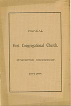 Thumbnail image of Stonington First Congregational Church 1895 Member List cover