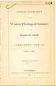 Thumbnail image of Western Theological Seminary 1860-61 Catalogue cover