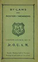 Thumbnail image of Canton Council No. 55, Jr. O. U. A. M. 1927 Roster cover