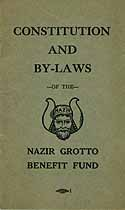 Thumbnail image of Nazir Grotto Benefit Fund 1924 Officers cover