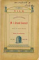 Thumbnail image of M. I. Grand Council 1899 Yearbook cover