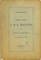Thumbnail image of New Mexico Grand Lodge 1898 Proceedings cover