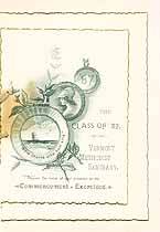 Thumbnail image of Vermont Methodist Seminary 1887 Commencement cover