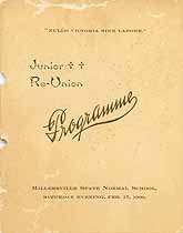 Thumbnail image of Millersville State Normal School 1900 Junior Re-Union Programme cover
