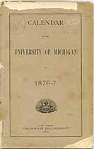 Thumbnail image of University of Michigan 1876-7 Calendar cover
