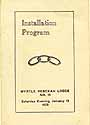 Thumbnail image of Myrtle Rebekah Lodge 1923 Installation Program cover