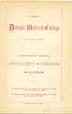 Thumbnail image of Detroit Medical College 1881-1882 Catalogue cover