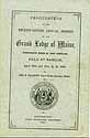 Thumbnail image of Maine Grand Lodge 1880 Proceedings cover