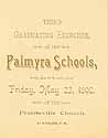 Thumbnail image of Palmyra School 1890 Graduating Exercises cover