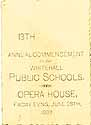 Thumbnail image of Whitehall Schools 1889 Commencement cover