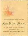 Thumbnail image of Columbia City High School 1891 Banquet cover
