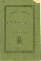 Thumbnail image of Connecticut Normal School 1883 Catalogue cover