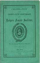 Thumbnail image of Rutgers Female Institute 25th Anniversary cover