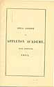 Thumbnail image of Appleton Academy 1861 Catalogue cover