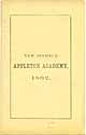Thumbnail image of Appleton Academy 1862 Catalogue cover