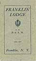 Thumbnail image of Franklin Lodge, No. 562, F. & A. M. 1907 Roster cover