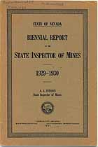Thumbnail image of Nevada Inspector of Mines 1929-1930 Report cover