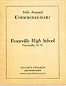 Thumbnail image of Forestville High School 1925 Commencement cover