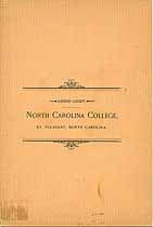 Thumbnail image of North Carolina College 1896-1897 Catalogue cover