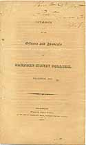 Thumbnail image of Hampden Sidney College 1823 Catalogue cover