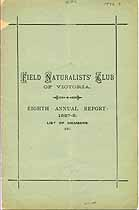 Thumbnail image of Victoria Field Naturalists' Club 1887-8 Report cover