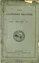 Thumbnail image of The California Register, Vol. 1, No. 1 cover