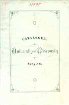 Thumbnail image of University of Wisconsin 1875-76 Catalogue cover